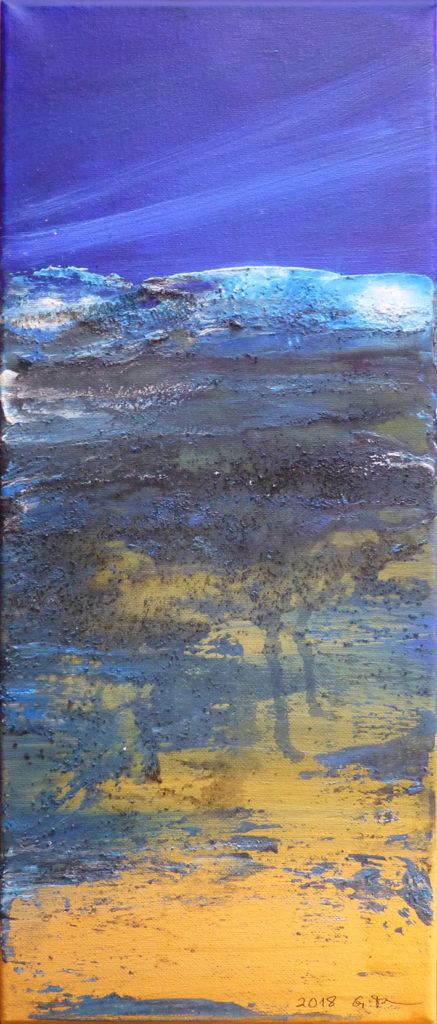 """Am Strand"", Acryl auf Leinwand, 20 x 50 cm"